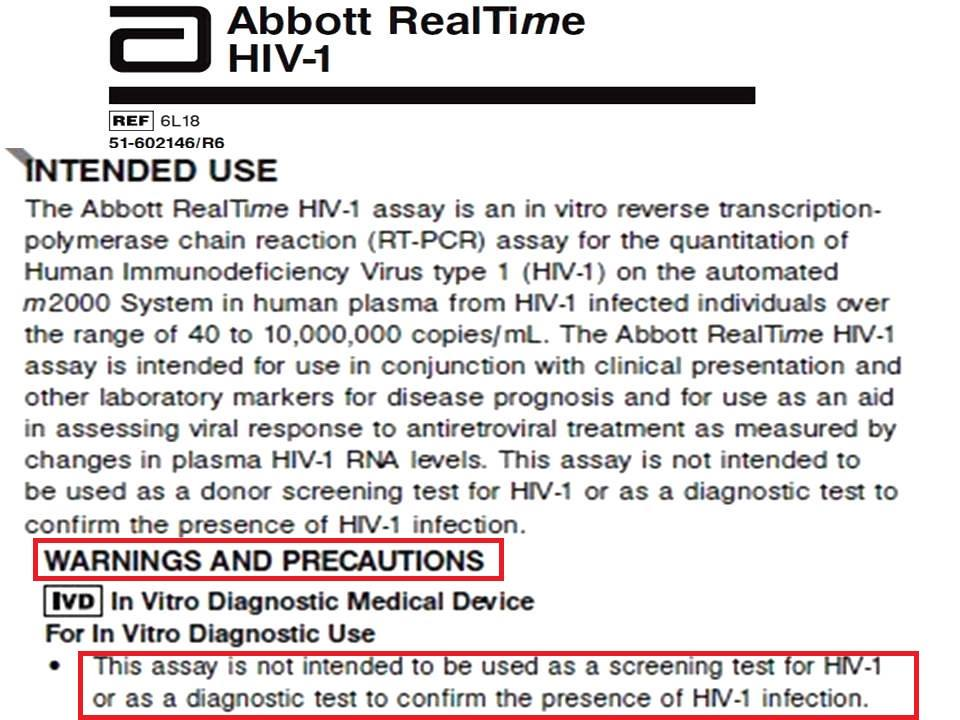 Abbott RealTime test HIV
